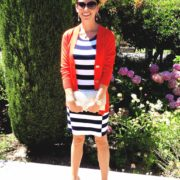 What I am Wearing: Navy Nautical Stripes