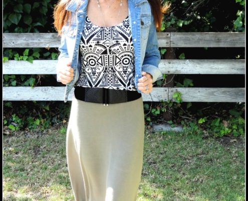 What I am Wearing: Army Green and Tribal Prints