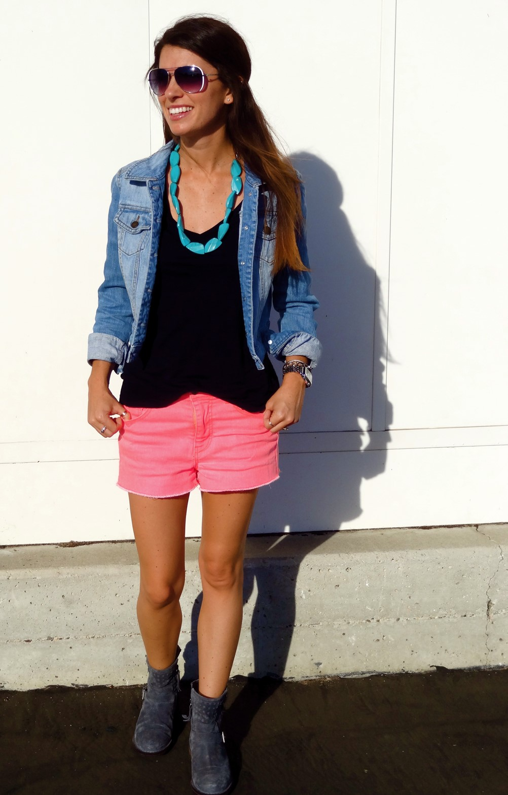1. What I am Wearing Shorts and Booties