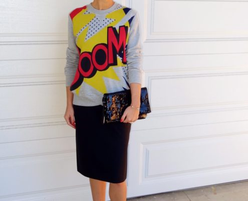 1. Wear of the Week Boom + Pencil Skirt