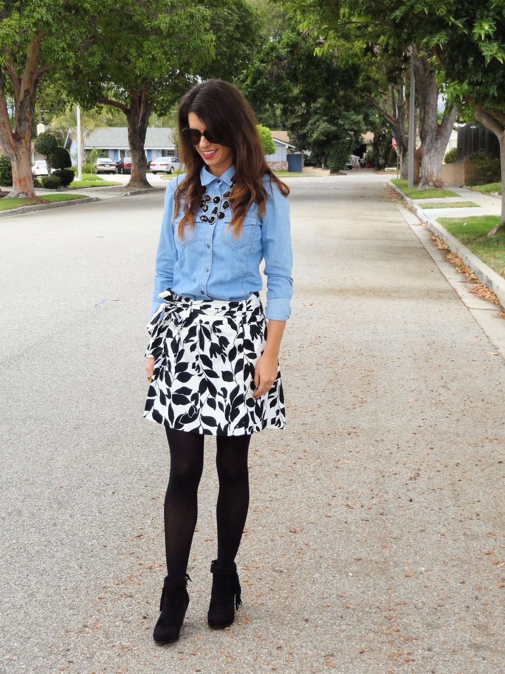 1. Wear of the Week Booties + Skirt