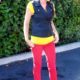 1. Wear of the Week Red Denim + Color Block