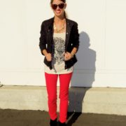 1. Wear of the Week Rockstar Red Denim