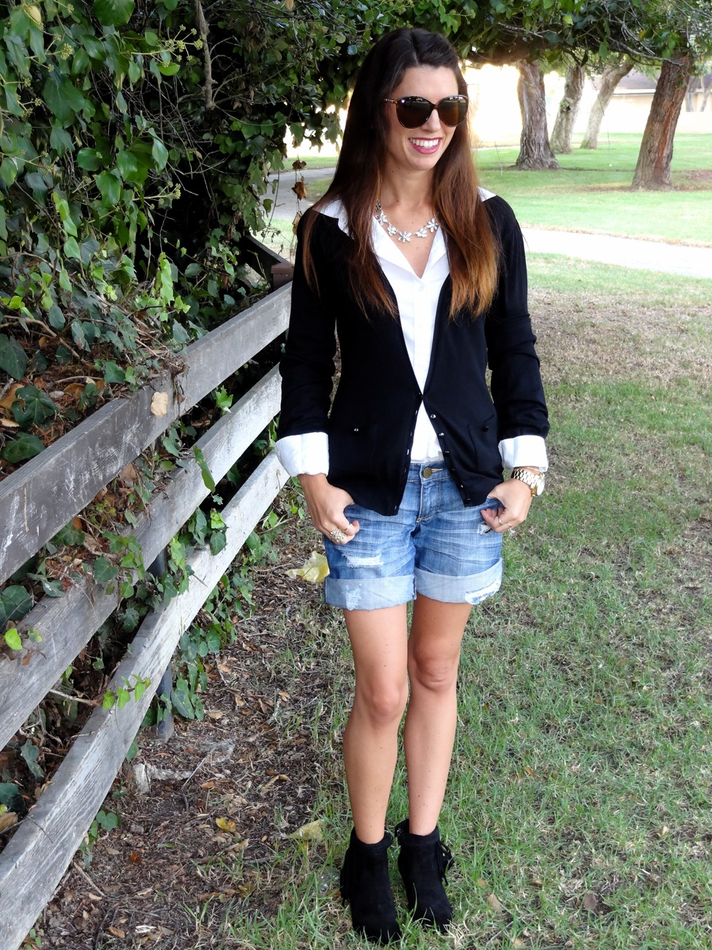 1. Wear of the Week  Work to Happy Hour Booties + Shorts