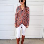 1. Wear of the Week White Pants and a Chunky Sweater