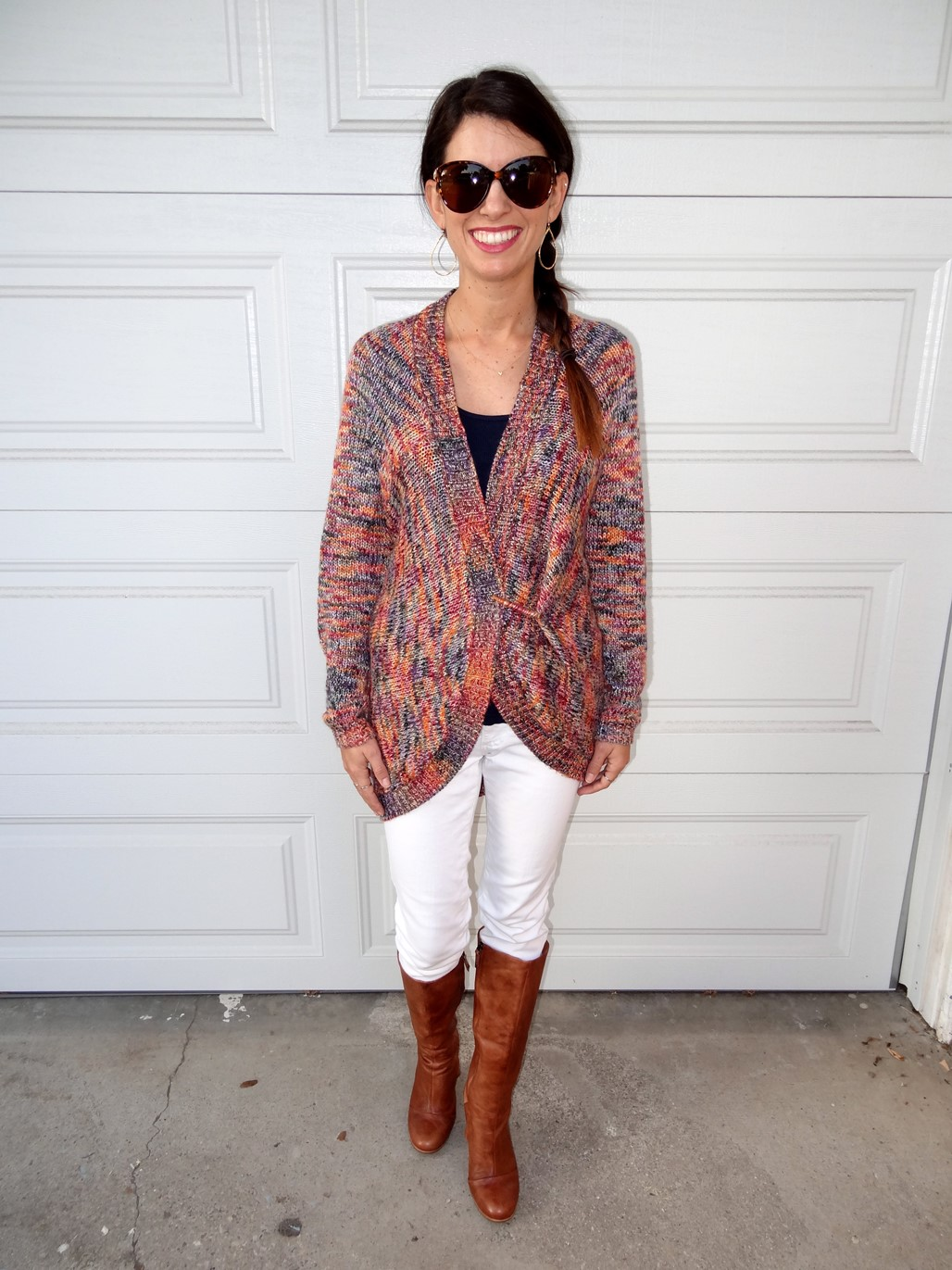 2. Wear of the Week White Pants and a Chunky Sweater