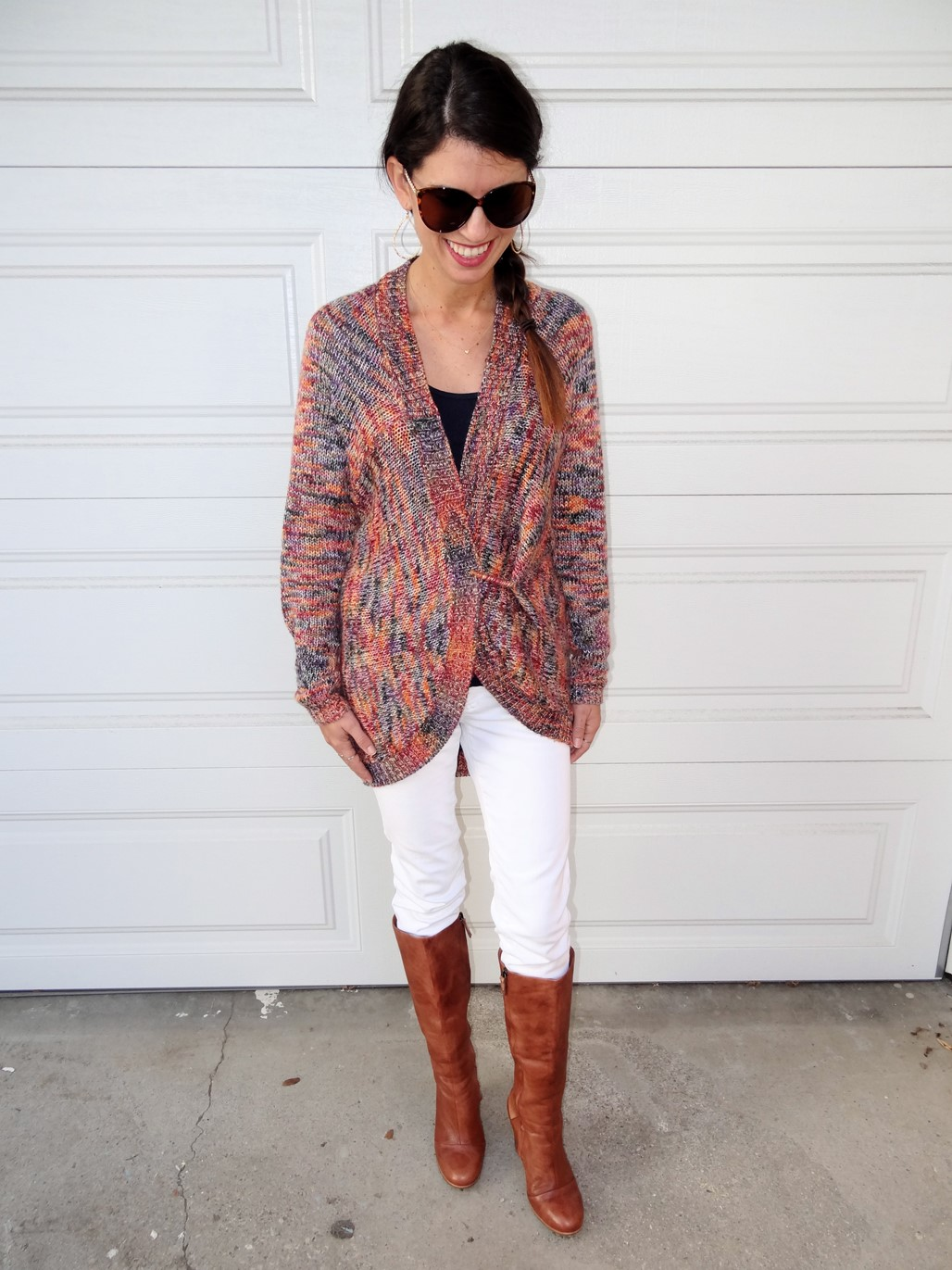 4. Wear of the Week White Pants and a Chunky Sweater