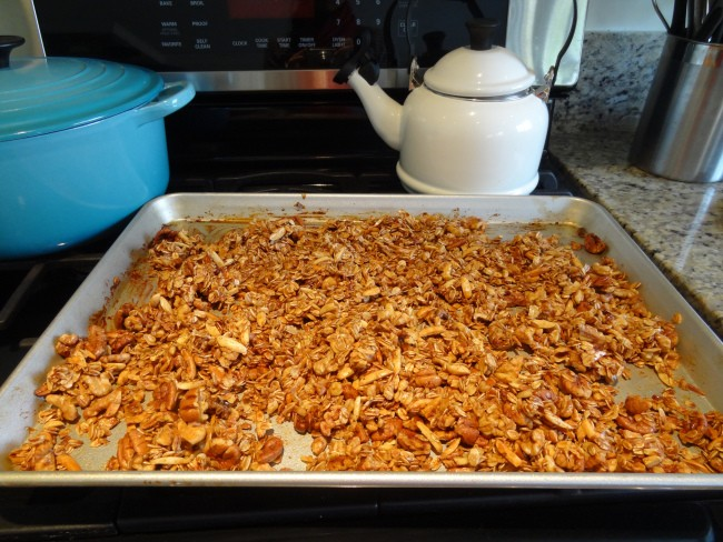 4. Maple and Honey Granola with Pecans, Walnuts, and Almonds