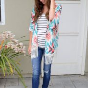 1. Wear of the Week Kimono + Stripes