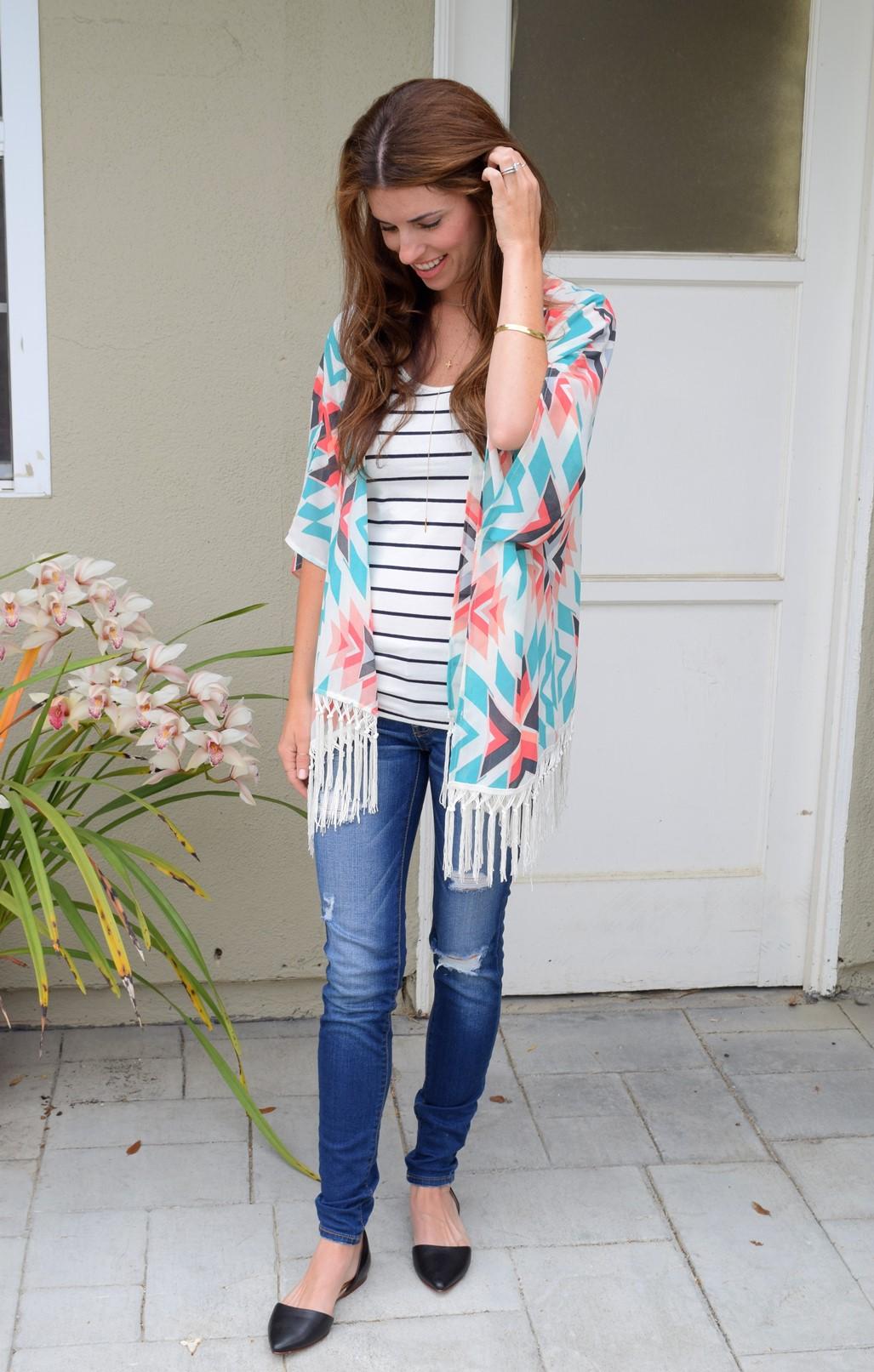 1. Wear of the Week Kimono + Stripes