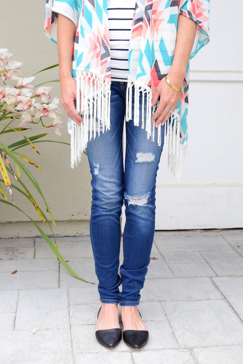 4. Wear of the Week Kimono + Stripes