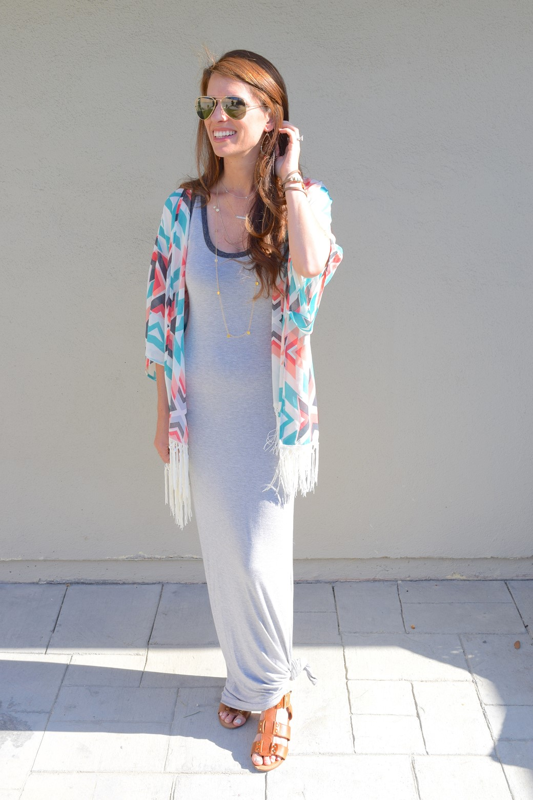 4. Wear of the Week Kimono + Maxi Dress